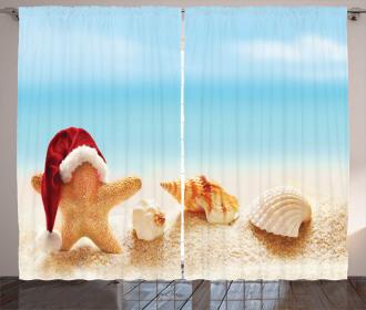 Starfish Exotic Beach Curtain