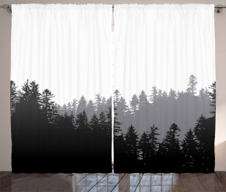 Abstract Wild Spruces Curtain