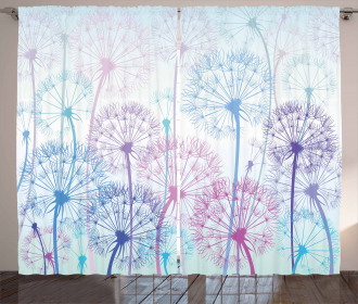 Abstract Flora Design Curtain