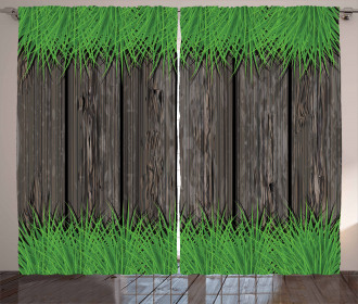 Wooden Planks Curtain