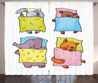 Sleepy Animal Friends Curtain