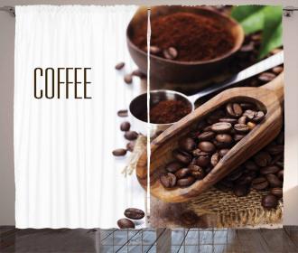Ground Coffee Beans Curtain