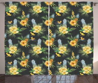 Tropic Flower Design Curtain
