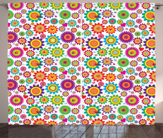 Colorful Camomiles Curtain