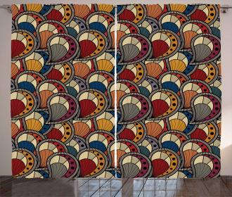 Abstract Paisley Motifs Curtain