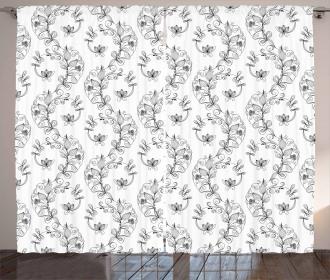 Scroll Lilies Curtain