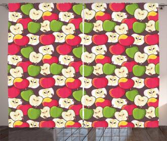 Halved Fresh Food Pattern Curtain