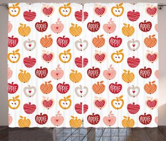Love Natural Food Theme Curtain