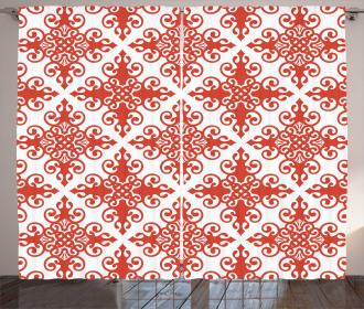 Western Scroll Ornament Curtain