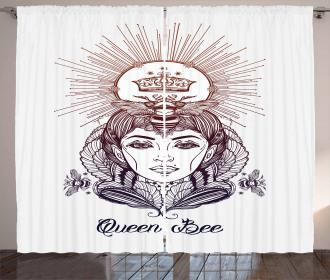 Royal Woman Motif Curtain