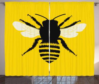 Honeybee Silhouette Curtain