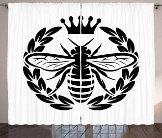 Monochrome Wreath Curtain