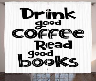 Good Coffee and Books Curtain