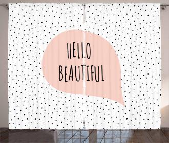 Romantic Message Pastel Curtain