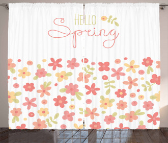 Soft Color Spring Blooms Curtain