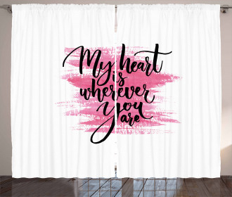 Romantic Ink Calligraphy Curtain