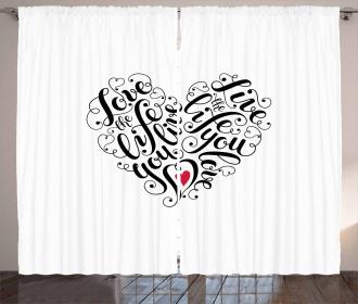 Heart Shape Inspiring Curtain