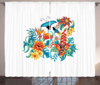 Exotic Jungle Foliage Curtain