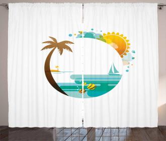 Tropic Paradise Summer Curtain