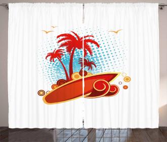 Exotic Halftone Backdrop Curtain