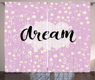 Dream Cloud Dots Curtain