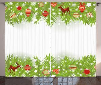Coniferous Noel Tree Curtain