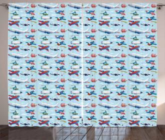 Aircrafts Sky Diving Curtain