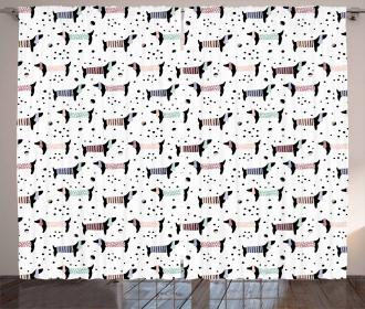 Dachshund Puppies Curtain