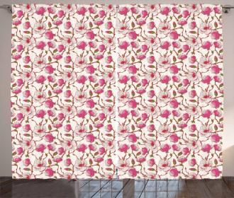 Pink Magnolia Garden Curtain