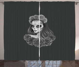 Calavera Girl Curtain