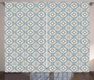 Circular Star Tile Motif Curtain