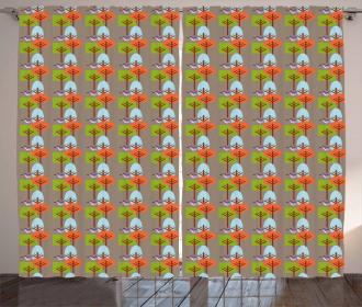 Modern Nature Art Curtain