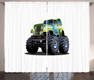 Monster Truck Off Road Curtain