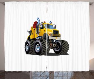 Giant Wheeled Monster Car Curtain