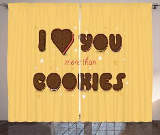 Chocolate Cookie Curtain