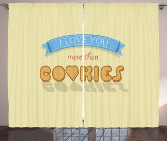 Vanilla Cookies Curtain