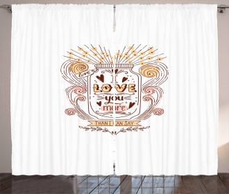 Floral Jar Art Curtain