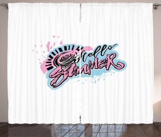 Graffiti Style Curtain