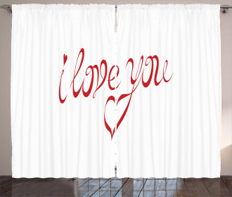 Swirling Font in Red Curtain
