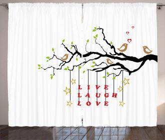 Couple of Birds Curtain