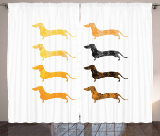 Vintage Silhouettes Curtain