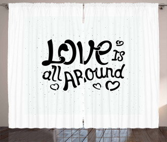 Love is All Around Curtain
