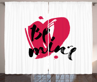 Be Mine Brush Letters Curtain