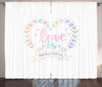 Pastel Dreamy Spring Curtain