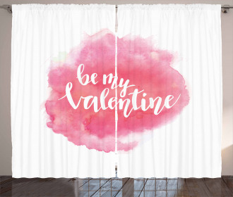 Be My Valentine Quote Curtain