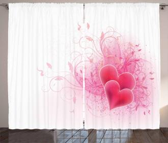 Floral Arrangement Romance Curtain