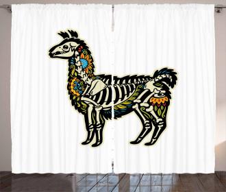 Sugar Skull Style Alpaca Curtain