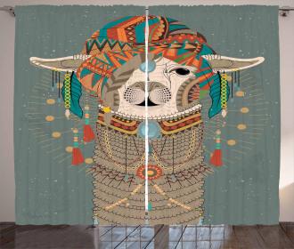 Ethnic Clothing Alpaca Curtain