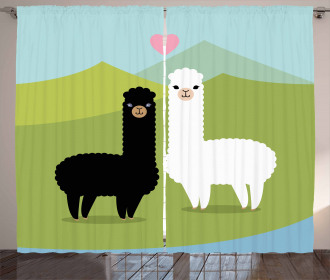 Animals in Love on Hill Curtain