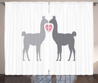 Two Animals in Love Curtain